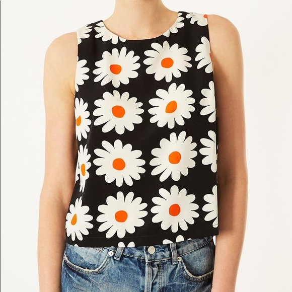 Topshop Daisy cropped tank